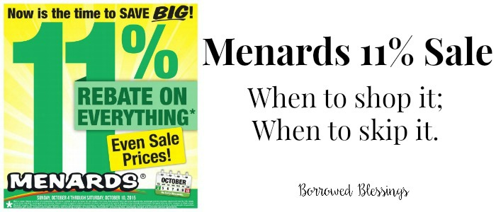 Menards 11% Rebates - Borrowed BlessingsBorrowed Blessings