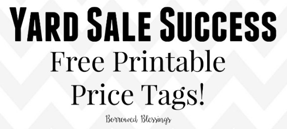 Yard Sale Price Tag Printables