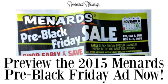 Menards Pre-Black Friday Ad Preview