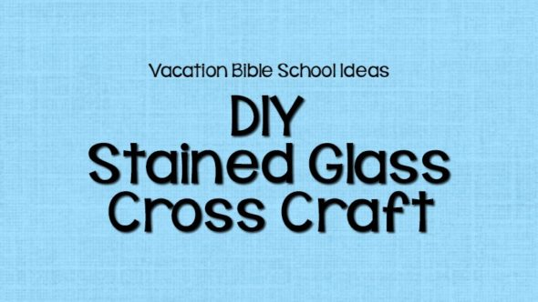 DIY Stained Glass Cross Craft