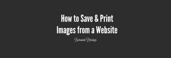 How to Save and Print Images from a Website