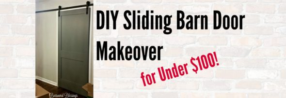 DIY Sliding Barn Door Makeover for Under $100!