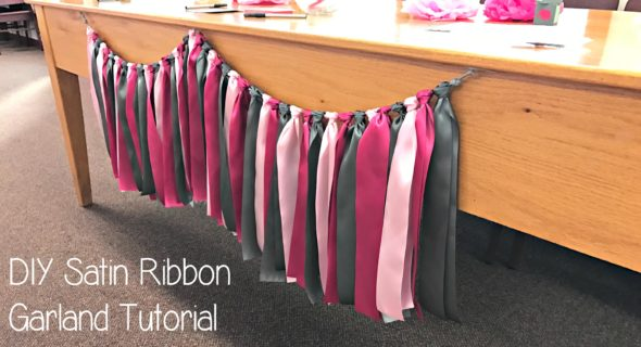 DIY Satin Ribbon Garland Tutorial