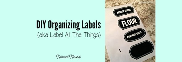 DIY Organizing Labels
