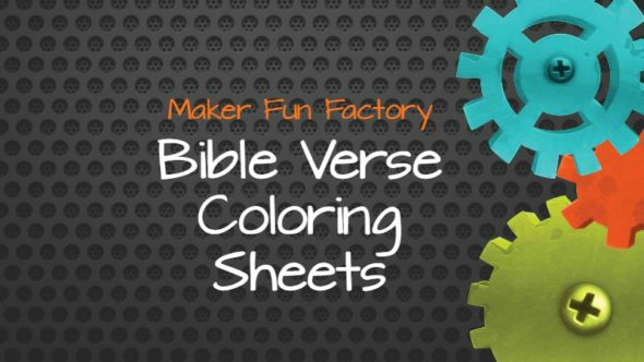 Bible Verse Coloring Sheets – Maker Fun Factory