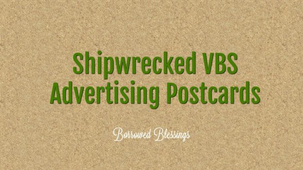 Shipwrecked VBS Advertising Postcards