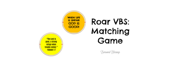 Roar VBS: Matching Game