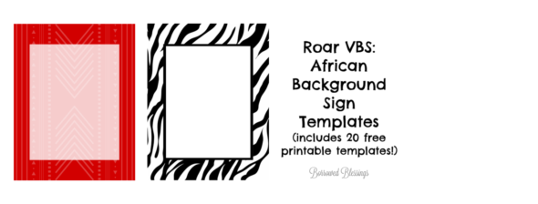 Roar VBS: African Background Sign Templates