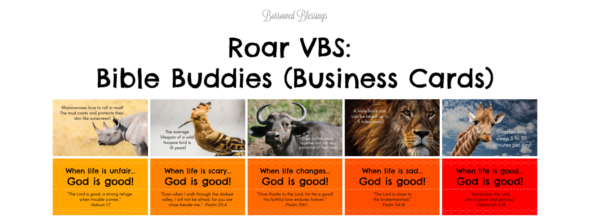 Roar VBS: Bible Buddies (Business Cards)