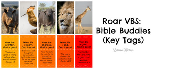 Roar VBS: Bible Buddies (Key Tags)