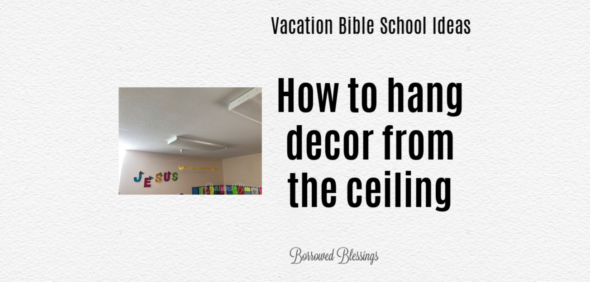 How to Hang Decor from the Ceiling