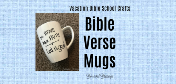 VBS Crafts: Bible Verse Mugs