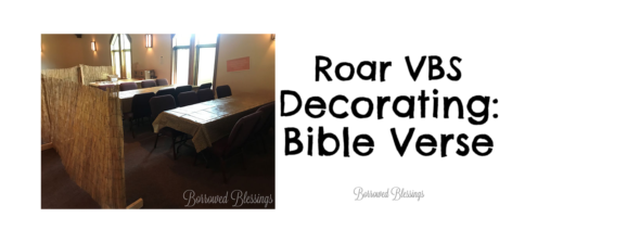 Roar VBS Decorating: Bible Verse
