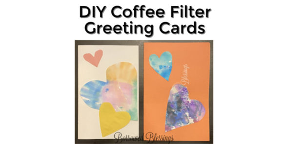 DIY Coffee Filter Greeting Cards