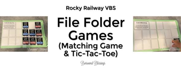 Rocky Railway VBS: File Folder Games (Matching Game & Tic-Tac-Toe)