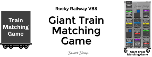 Rocky Railway VBS: Giant Train Matching Game