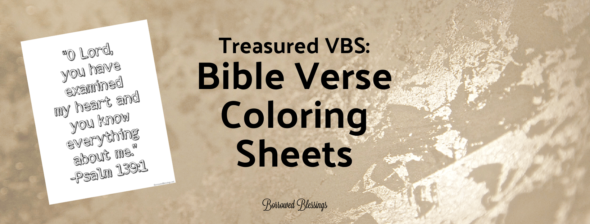 Treasured VBS: Bible Verse Coloring Sheets