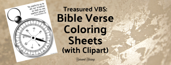 Treasured VBS: Bible Verse Coloring Sheets – with clip art