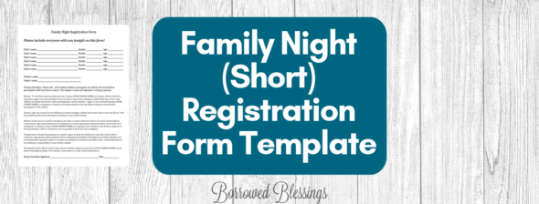 Family Night Registration Form Template
